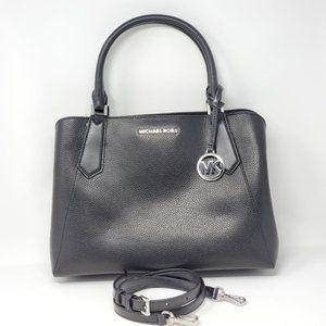💯Auth Michael Kors Black Leather Satchel Bag